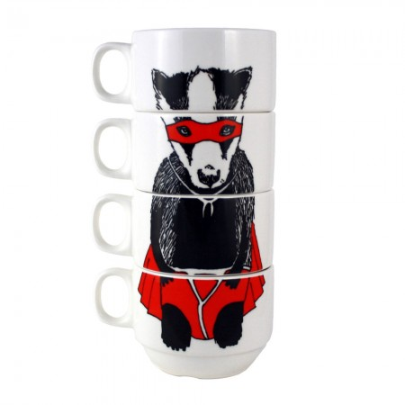 Super Badger Stackable Mugs - Red Candy