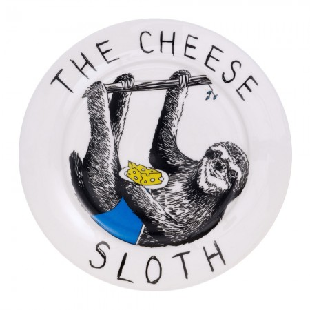 The Cheese Sloth Side Plate - Red Candy