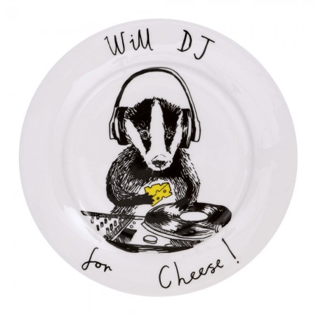 Will DJ for Cheese Side Plate - Red Candy