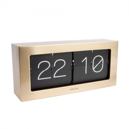 Karlsson Boxed Flip Clock Large (Gold) - Red Candy