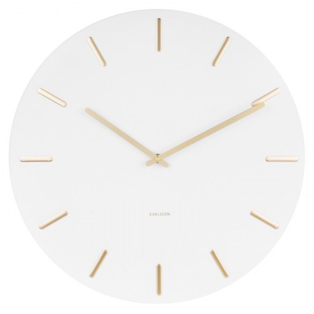 Karlsson Charm Wall Clock (White) - Red Candy
