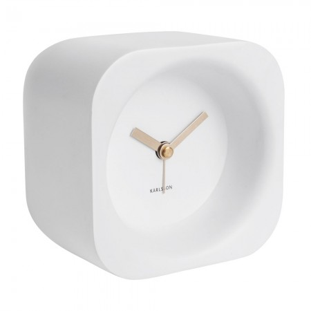 Karlsson Chunky Alarm Clock (White) - Red Candy