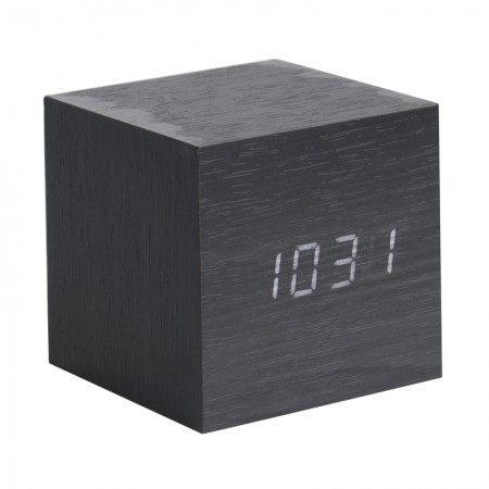 Karlsson Cube LED Clock (Black) - Red Candy