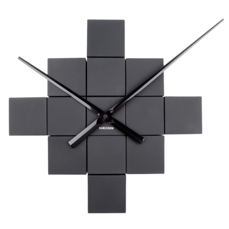 Karlsson DIY Cubic Wall Clock (Black) - Red Candy