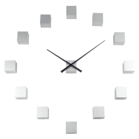 Karlsson DIY Cubic Wall Clock (Silver) - Red Candy