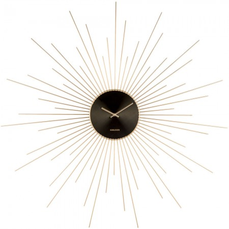 Karlsson Extreme Peony Wall Clock (Gold) - Red Candy