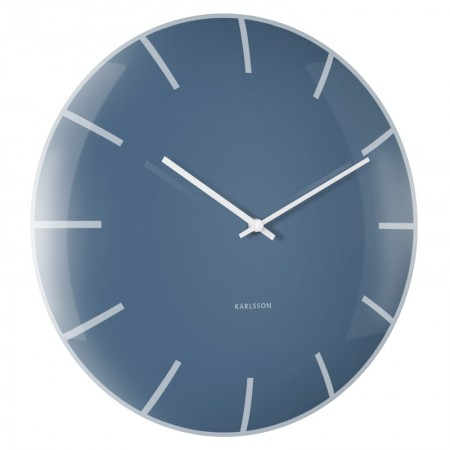 Karlsson Glass Dome Wall Clock (Blue) - Red Candy