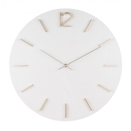 Karlsson Meek Wall Clock (White) - Red Candy