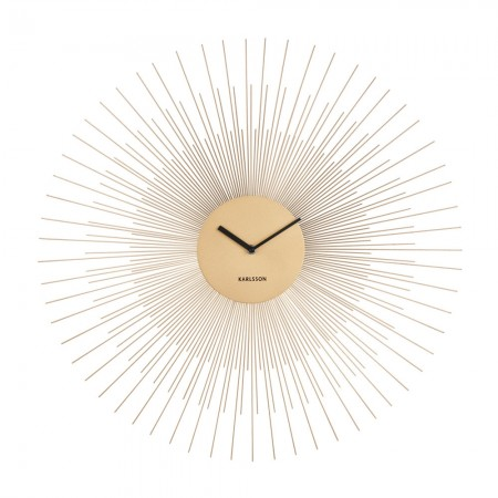 Karlsson Peony Large Wall Clock (Gold) - Red Candy