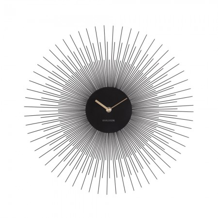 Karlsson Peony Wall Clock (Black) - Red Candy