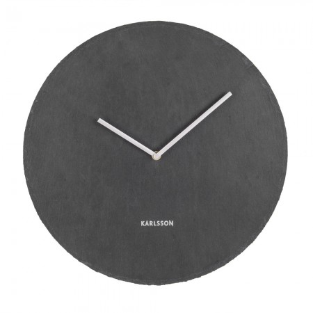 Karlsson Slate Wall Clock (Black) - Red Candy