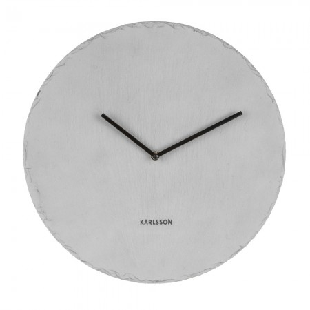 Karlsson Slate Wall Clock (Grey) - Red Candy