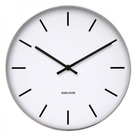 Karlsson Station Classic Wall Clock - Red Candy