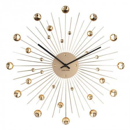 Karlsson Sunburst Large Wall Clock (Gold) - Red Candy