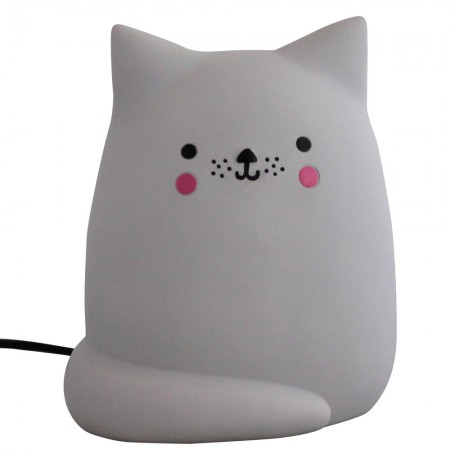 Kawaii Cat Table Lamp - Red Candy