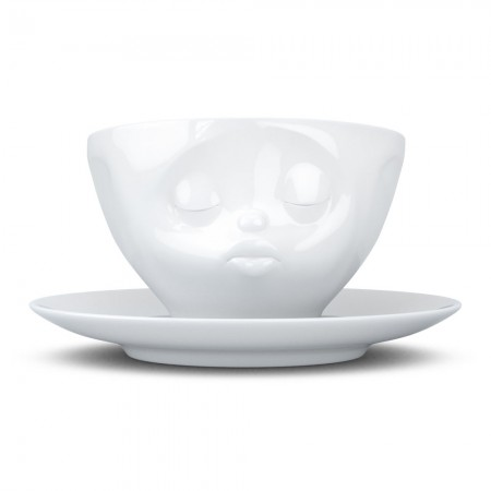 Kissing Cup & Saucer - Red Candy