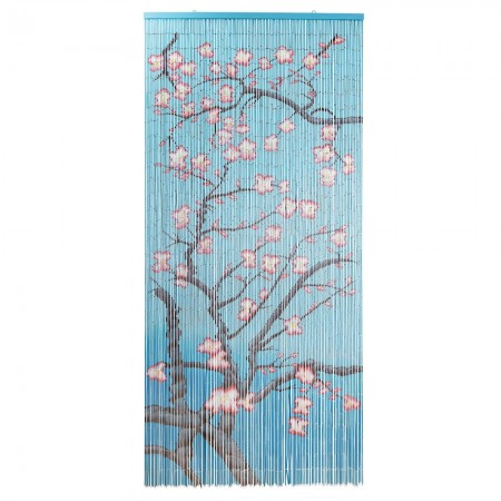 Van Gogh Blossom Door Curtain - Red Candy