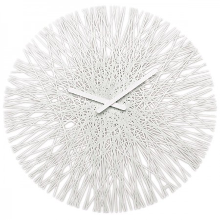Koziol Silk Wall Clock (White) - Red Candy
