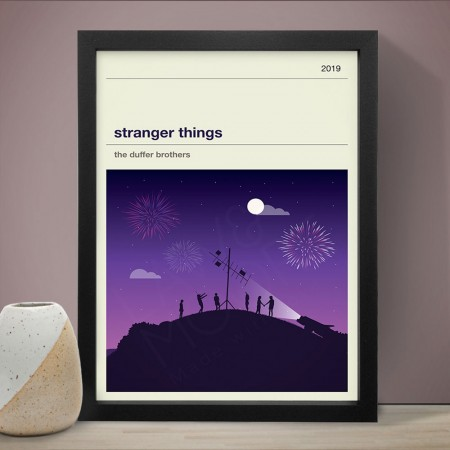 Stranger Things Season 3 Art Print - Red Candy