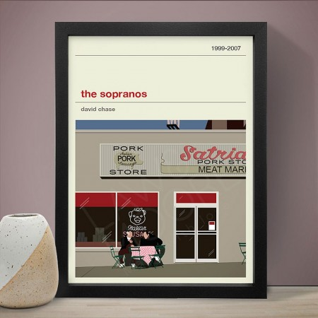 The Sopranos Art Print - Red Candy