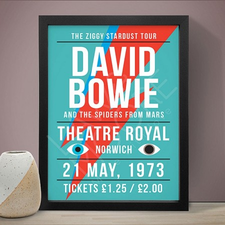 David Bowie (Theatre Royal Gig) Art Print – Red Candy