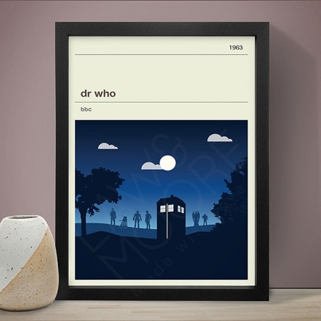 Dr Who Art Print (4 Sizes) - Red Candy