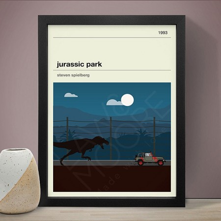 Jurassic Park Art Print - Red Candy