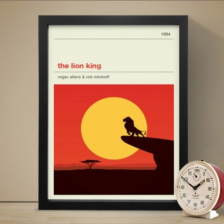 Lion King Art Print - Red Candy