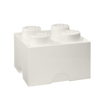Lego Storage Brick (White, 2 Sizes Available) - Red Candy