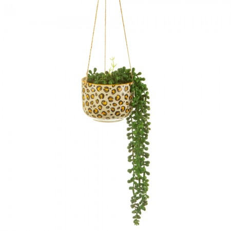 Leopard Love Hanging Planter - Red Candy