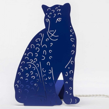 Leopard Table Lamp (Blue) - Red Candy