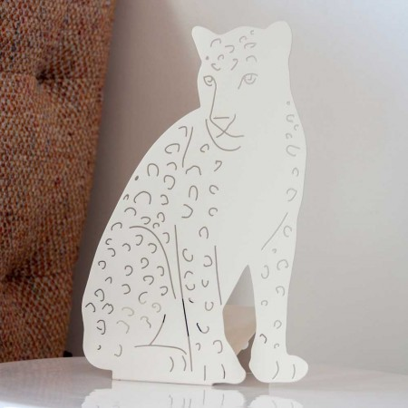 Leopard Table Lamp (Ivory) - Red Candy