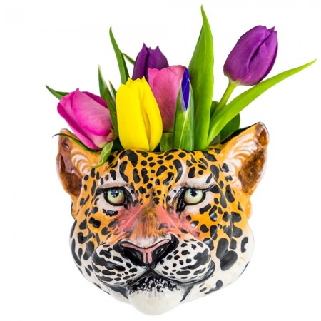 Lester the Leopard Wall Planter - Red Candy