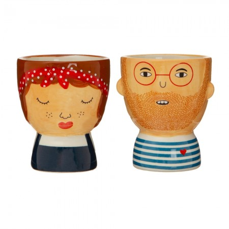 Libby & Ross Egg Cups (Set of 2) - Red Candy