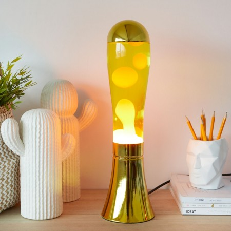Liquid Gold Lava Lamp - Red Candy