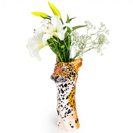 Loretta the Leopard Vase - Red Candy
