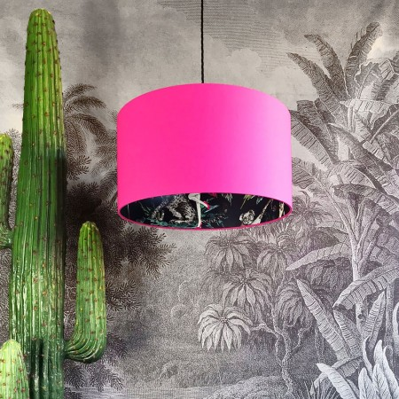 Silhouette Cotton Lampshade (Midnight Chimiracle in Bubblegum Pink) - Red Candy