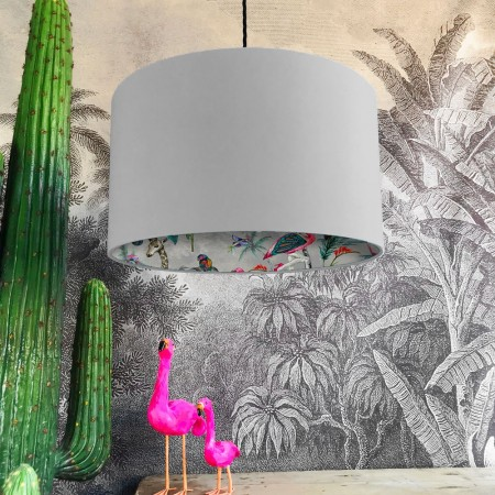 Silhouette Cotton Lampshade in Grey Chimiracle (Cloud Grey) - Red Candy