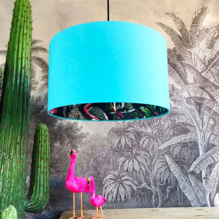 Silhouette Cotton Lampshade in Midnight Chimiracle (Sky Blue) - Red Candy