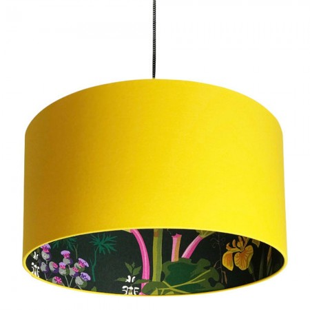 Silhouette Cotton Lampshade (Rabarber in Egg Yolk) - Red Candy