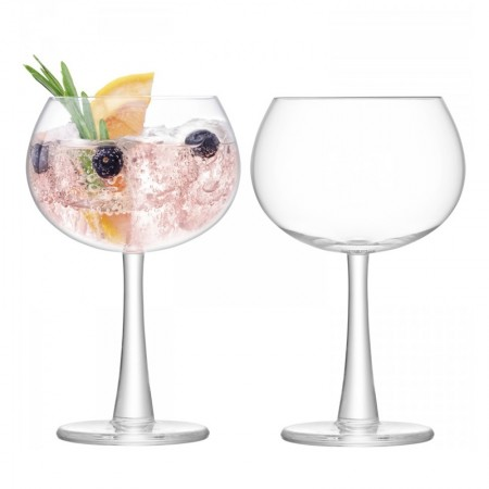 LSA Gin Balloon Glasses (Set of 2) - Red Candy