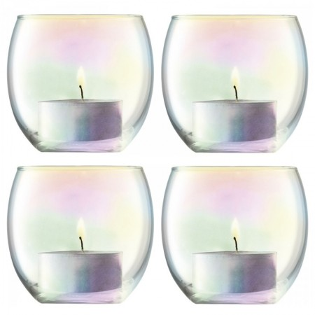 LSA Pearl Tealight Holders - Red Candy