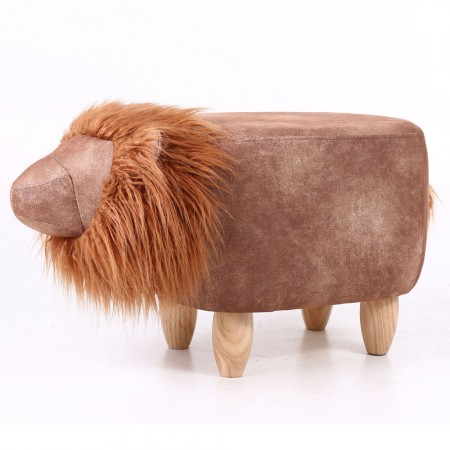 Luka the Lion Footstool - Red Candy