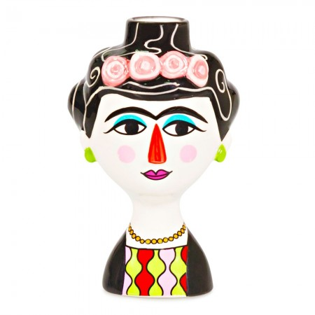 Marisol Ceramic Candle Holder - Red Candy