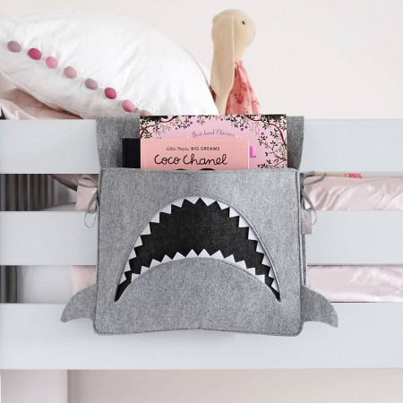 Mark the Shark Bed Pocket - Red Candy