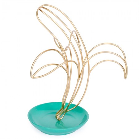 Metal Banana Jewellery Stand - Red Candy