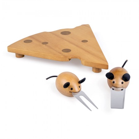 Michael & Minerva Mouse Cheese Board Set - Red Candy