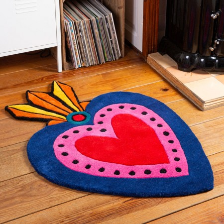 Milagro Heart Rug (Large) - Red Candy