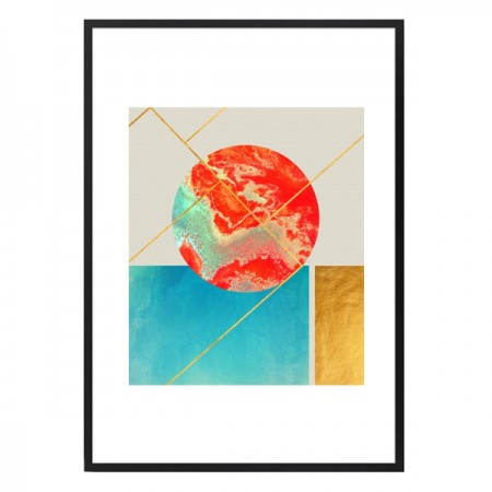 Earth-Sea Framed Print - Red Candy