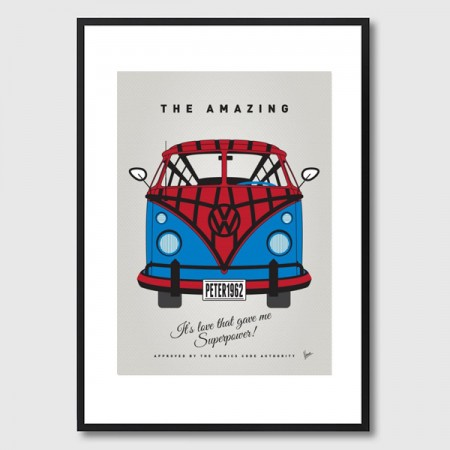 My Superhero VW Spiderman Framed Print - Red Candy